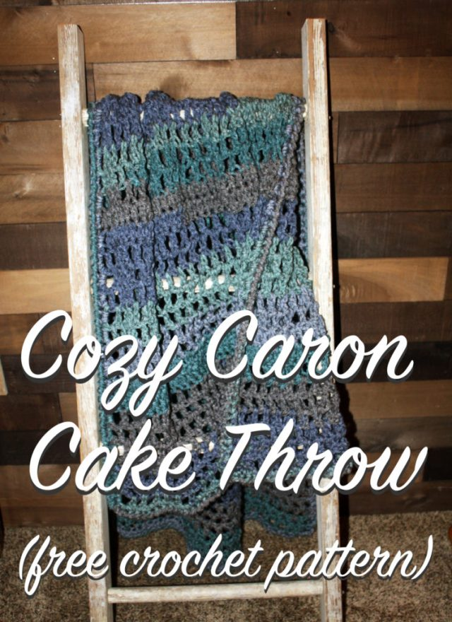 Cozy Crochet Blanket (Sofa Throw) with Caron Tea Cakes – Free