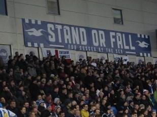 The Brighton ultras. (Photo: Stadiafile)