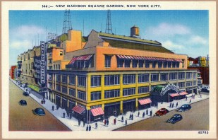The third iteration of Madison Square Garden on 50th Street & 8th Avenue preceded the current location on 33rd & 7th (Photo: Stadiafile)
