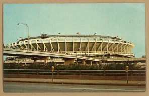 Enjoy this view of the long-gone Riverfront Stadium in Cincinnati, OH, home to the Reds (MLB) and Bengals (NFL) between 1970-2002 (Photo: Stadiafile)