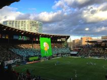 CLEVER KOPS: A truly great supporters section needs two things: a sharp sense of humor and organization - Providence Park has both. Timbers Army turns downtown Portland's historic former baseball stadium into a buzzing soccer cauldron, up there with the world's best kops. https://www.youtube.com/watch?v=NRSEyLqOpZw [Providence Park, Portland, OR/Capacity: 20,438/Club: Portland Timbers] (Photo: Wikipedia Hawk00eyed)
