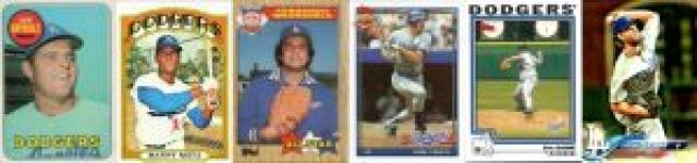 Various Topps Dodgers Cards