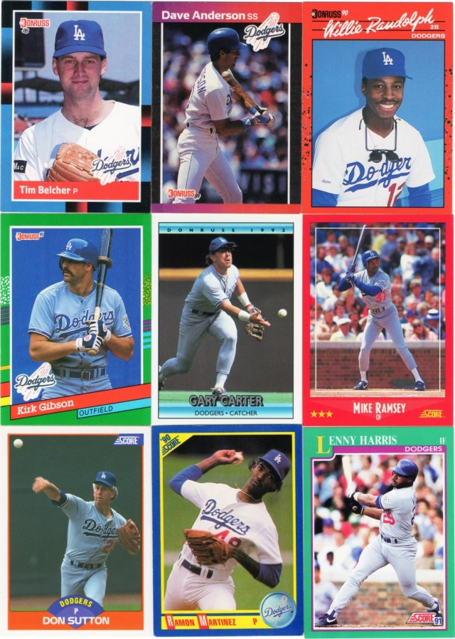 Some 1988-92 Donruss and 1988-91 Score cards