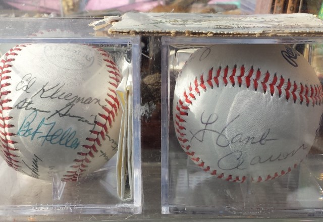 Baseballs with multiple autographs
