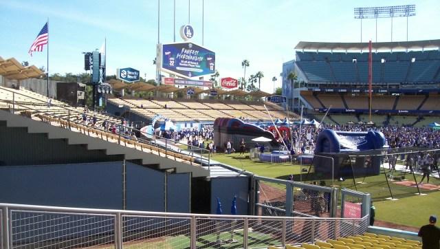 Outfield pavilions at 2019 Dodgers Fan Fest