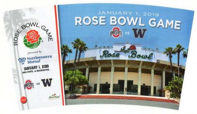 2019 Rose Bowl Souvenir Cup Design
