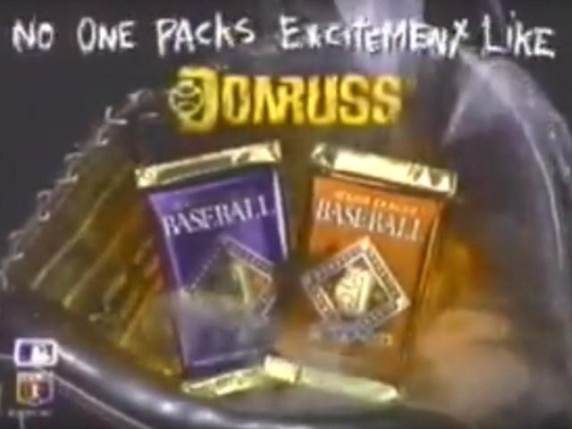 Screenshot from a 1992 Donruss commercial