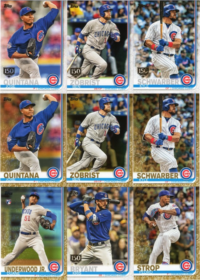 2019 Topps Series 1 Cubs parallels