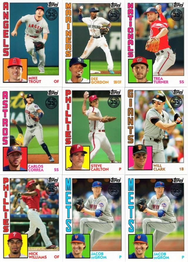 2019 Topps: 1984 Topps insert cards