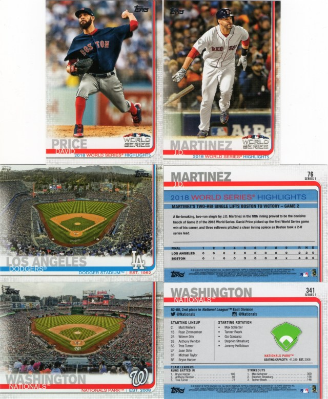 2019 Topps: A sampling of World Series Highlights and Stadiums