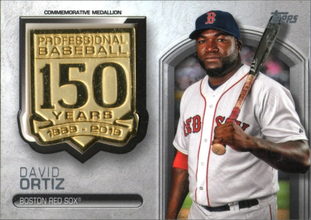 2019 Topps Series 1 150th Anniversary Commemorative Medallion card of David Ortiz