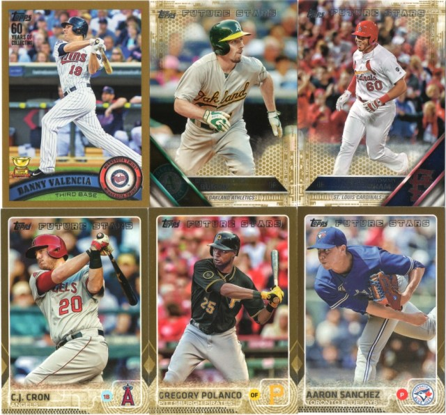 Some recent Topps Gold cards