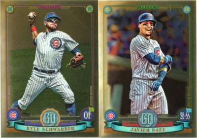 Two 2019 Topps Gypsy Queen Chrome Cubs