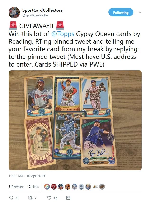 Matt's Twitter giveaway!