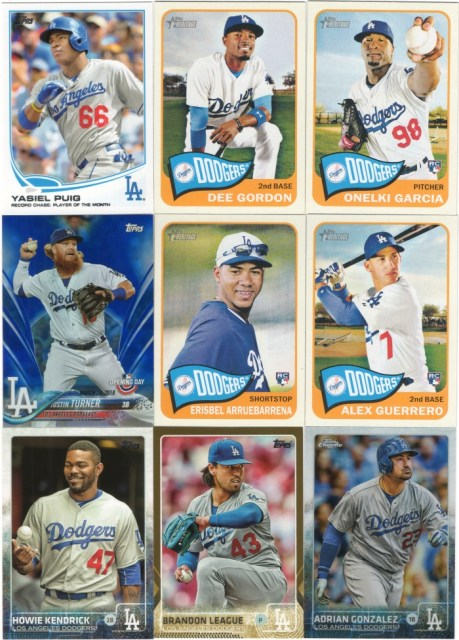 More assorted Dodgers cards