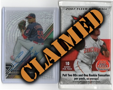 Baseball Prize Lot #7 - Claimed