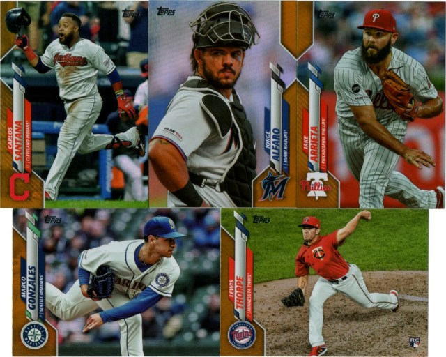 Gold foil parallels from 2020 Topps Series 1