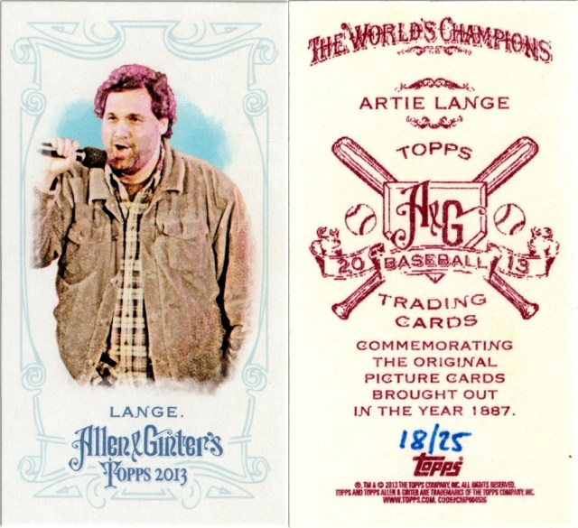 2013 Allen & Ginter mini NNO #'d /25, front and back