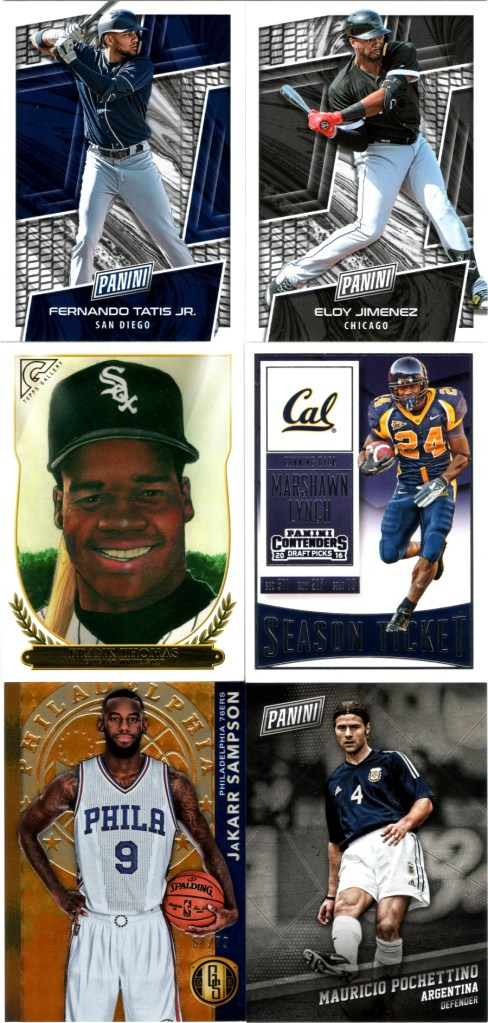 2019 Panini The National VIP #FT, #EJ, 2018 Topps Gallery #HOF-18, 2016 Panini Contenders Draft Picks #71, 2015-16 Panini Gold Standard AU #148 #'d 68/79, 2017 Panini Black Friday #39