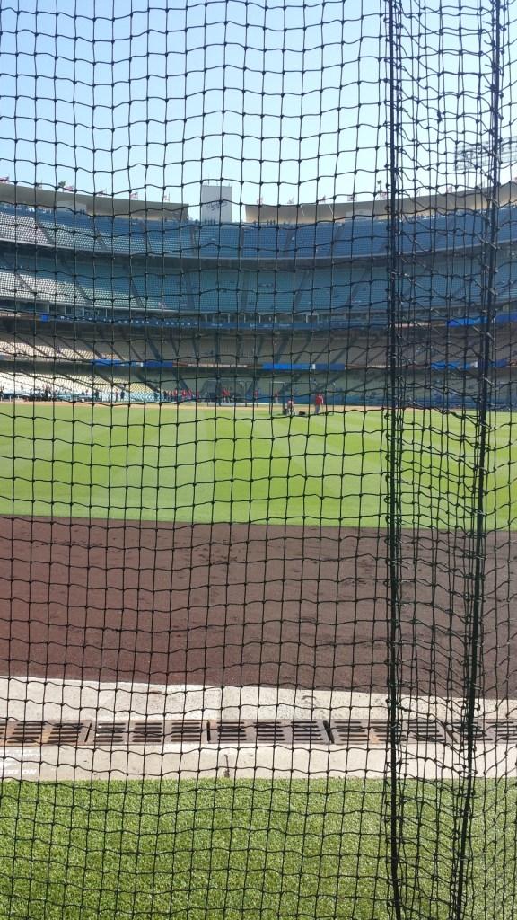 Dodger Stadium beyond Centerfield view