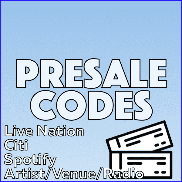 Standard Concert Presale Codes: American Express, Citi, Live Nation