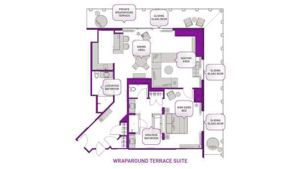 wraparound terrace suite at the cosmopolitan las vegas