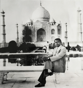 Mr. Gour Gopal Saha, founder of Stadmed in front of the Taj Mahal.