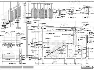 実施設計図面の例 細かい仕様や寸法を表現します