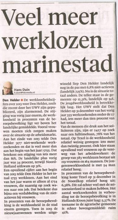 Uit het Noord Hollands Dagblad van 30 januari 2014