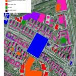 Karta över funktioner i Rosengård 2030.