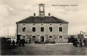 Det gamla rådhuset i Helsingborg från slutet av 1700-talet ansågs vara fult. Bildkälla: Sven Andersson.