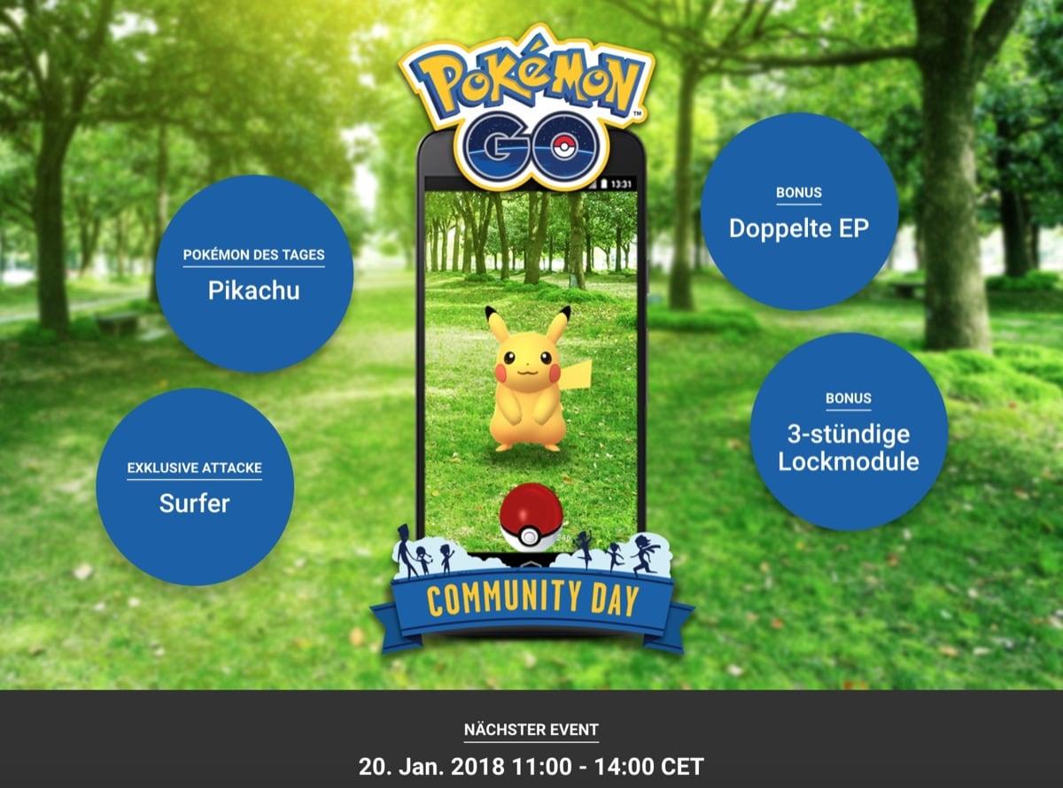 Community-Day für Pokémon GO bestätigt