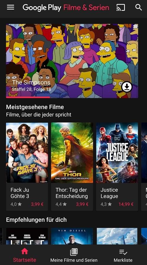 google play filme und serien