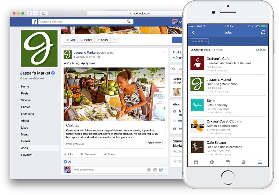 Facebook Jobs Geht In Deutschland An Den Start