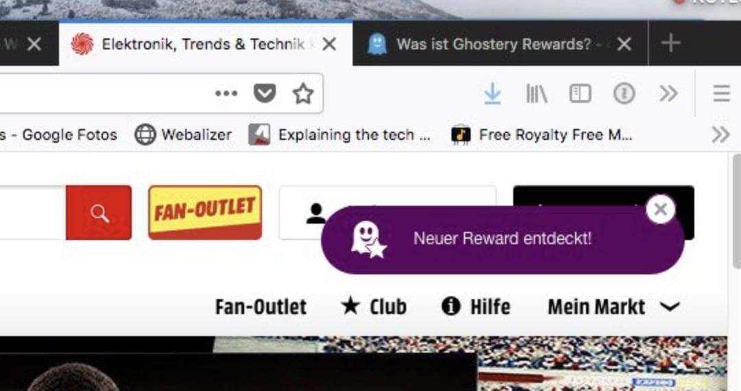 Ghostery lockt euch dezent auf andere Plattformen