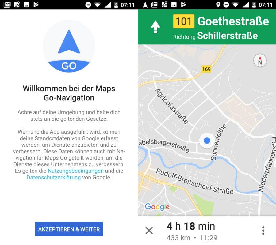Google Maps Go erhält Zusatz-App für Navigation on