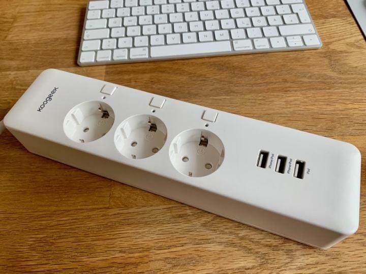 Koogeek Smart Plug: Dreier-Steckdose mit USB-Anschlüssen (Alexa ...
