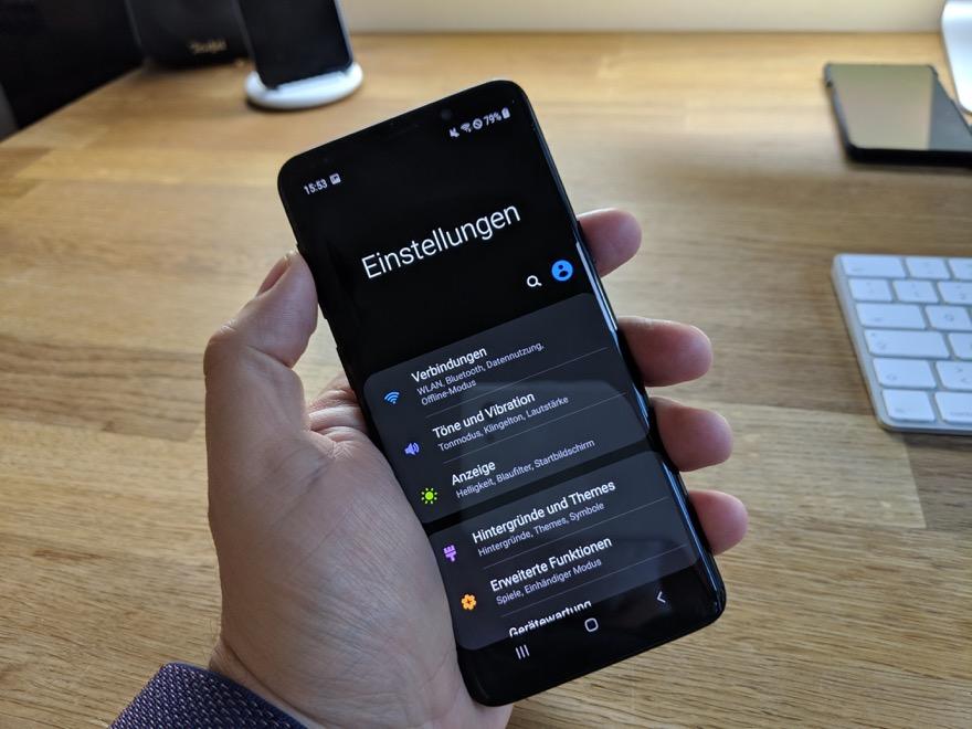Samsung Galaxy S9: Ein Blick auf Android Pie und die neue One UI