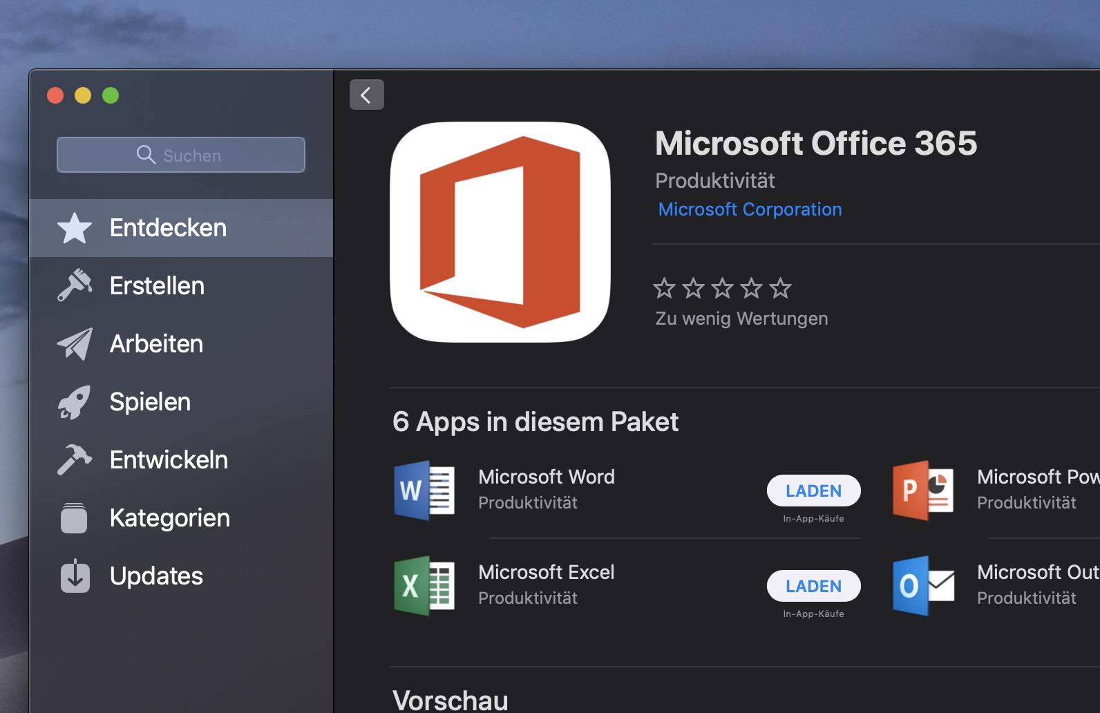 Apple Mac App Store Bietet Ab Sofort Microsoft Office 365