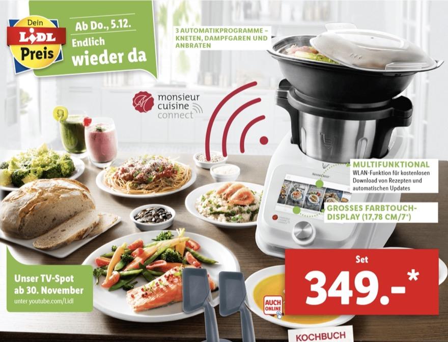Monsieur Cuisine Connect Lidl Verkauft Wieder Smarte Kuchenhilfe