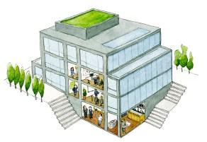 Aufriss Bürogebäude