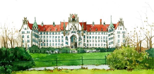 Illustration vom Amtsgericht Wedding
