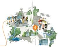 Illustration der Stadt Berlin als Start-up-Metropole für das Kapitel Gründerszene