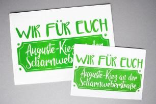Wir für euch: Auguste-kiez an der Scharnweberstraße