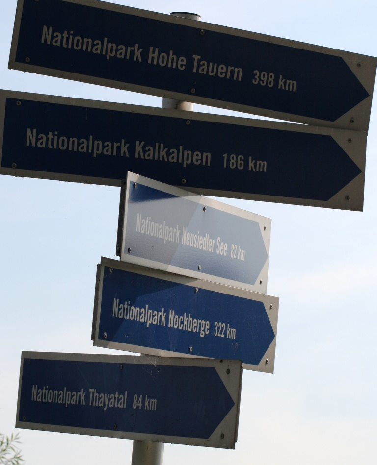 Hohe Tauern, Nockberge, Neusiedler See, Kalkalpen, Thayatal, alle weit entfernt