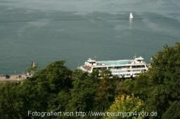 Blick vom Ödenstein auf die Fähre Meersburg - Konstanz