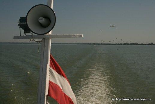 Überfahrt von Podersdorf nach Rust / Neusiedlersee -