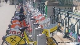 Citybikes an der Citybike-Station