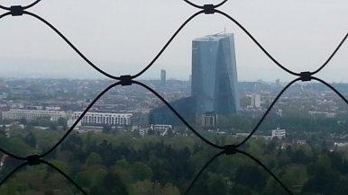 Blick vom Goetheturm Frankfurt EZB