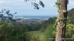 Blick von der Brunnenstube Wendelberg nach Aschaffenburg und Mainaschaff